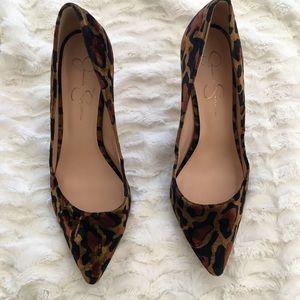 Jessica Simpson Leopard pumps size 10